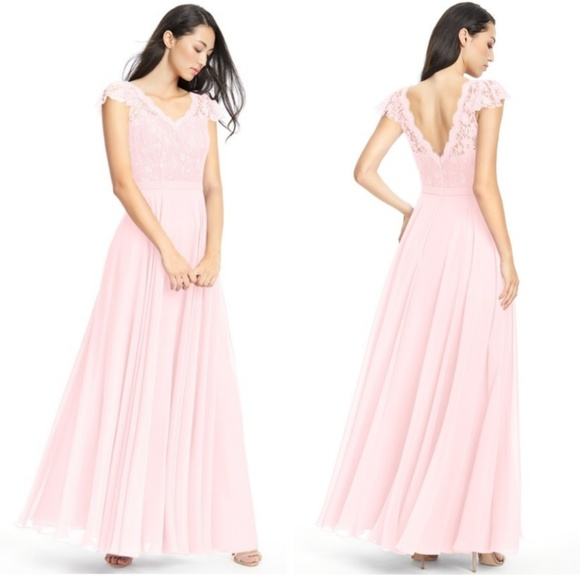 00895879ecd Azazie Cheryl blushing pink bridesmaid gown